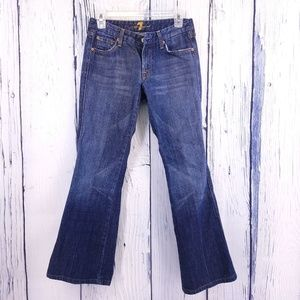 7 For All Mankind Flare A Pocket Jeans Sz 28